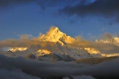 De berg van Meili toneel Stock Foto