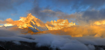 De berg van Meili toneel Royalty-vrije Stock Afbeeldingen