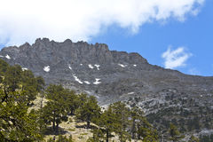 De berg van Olympus in Griekenland stock afbeelding