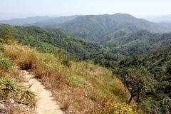 De berg van Pha Phum van de leren riem, Kanchanaburi, Thailand Royalty-vrije Stock Afbeeldingen
