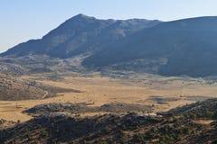 De berg van Psiloritis bij het eiland van Kreta, Griekenland Stock Foto
