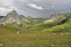 De berg van Roccala Meja, valle Maira, Cuneo, Italië stock afbeelding