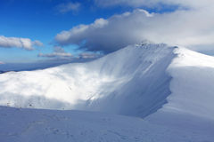 De berg van Slowakije bij de winter, Lage Tatras Royalty-vrije Stock Foto's