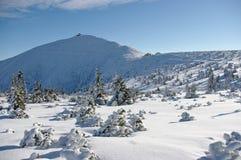 De berg van Sniezka Stock Foto