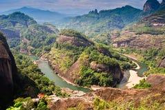De Berg van Wuyi stock afbeeldingen