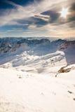 De berg van Zugspitze toneel Stock Foto's
