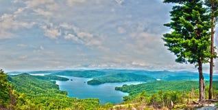 De Berg van zuidencarolina lake jocassee gorges upstate Royalty-vrije Stock Afbeelding