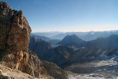 De Berg Zugspitze, Duitsland van de sneeuw. Royalty-vrije Stock Foto's