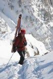 De bergbeklimmer van de ski Stock Foto's