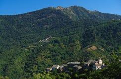 De bergcastagniccia van Corsica Stock Afbeeldingen