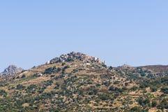 De bergdorp Corsica van Santantonino stock foto's