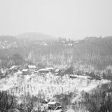 De bergdorp van de winter Royalty-vrije Stock Foto