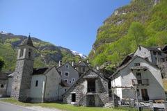 De bergdorp van Ticino Stock Afbeelding