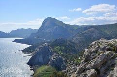 De bergen aan de kust Royalty-vrije Stock Afbeelding