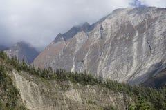 De bergen in Annapurana-Kring royalty-vrije stock foto's