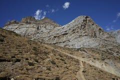 De bergen in Annapurana-Kring stock foto