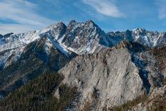 De bergen in de sneeuw Royalty-vrije Stock Foto