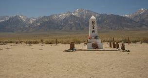 De Bergen & de Wolken van Manzanar Stock Foto