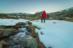 In de bergen stock foto's
