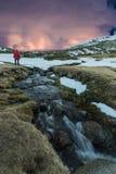 In de bergen royalty-vrije stock fotografie