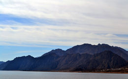 De bergen - Egypte - Dahab - Overzees Royalty-vrije Stock Foto