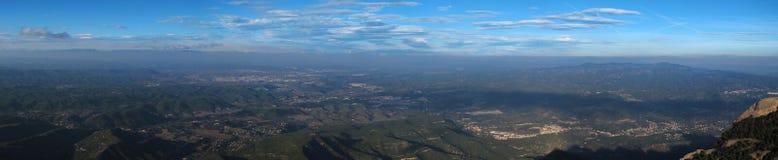 De bergen en de heuvels van het panorama Stock Fotografie