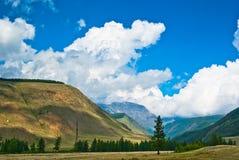 De bergen en de vallei Royalty-vrije Stock Fotografie