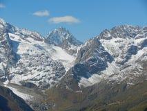 De bergen en de vallei Stock Foto's