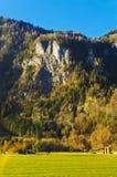 De bergen en de valleien Stock Foto's