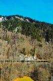 De bergen en de valleien Stock Foto
