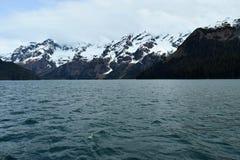 De Bergen en het Meer van Alaska Royalty-vrije Stock Foto