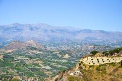 De bergen en het plateau in Griekenland Stock Afbeelding