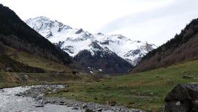 De bergen frontera del Portalet, Huesca, Aragon, Spanje van de Pyrenee?n stock video