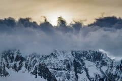 De Bergen Gr Chalten Argentinië van de Andes van de wolkendekking Stock Foto