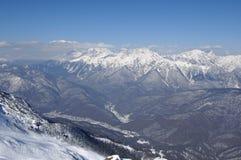 De bergen in Krasnaya Poly Stock Afbeelding