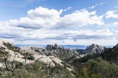 De bergen in Montseny Stock Afbeeldingen