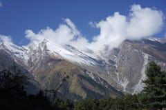 De bergen op Annapurana-gebied Stock Fotografie