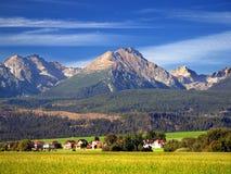 De bergen Tatra in de Zomer Royalty-vrije Stock Afbeeldingen