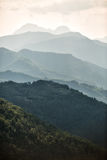De Bergen Toscanië van Carrara Stock Afbeelding
