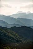De Bergen Toscanië van Carrara Stock Fotografie