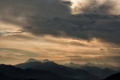 De Bergen Toscanië van Carrara Royalty-vrije Stock Afbeelding