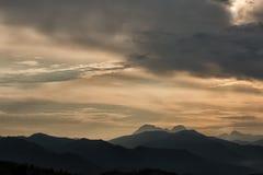 De Bergen Toscanië van Carrara Stock Foto