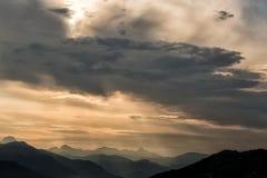 De Bergen Toscanië van Carrara Stock Foto's