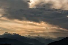 De Bergen Toscanië van Carrara Royalty-vrije Stock Foto