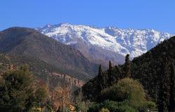 De Bergen Toubkal van de Atlas van Marokko Stock Afbeelding