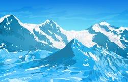 De bergen van alpen royalty-vrije illustratie