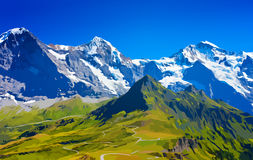 De bergen van alpen vector illustratie