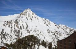 De bergen van alpen Stock Foto