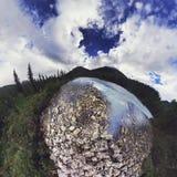 De Bergen van Altai Stock Afbeeldingen