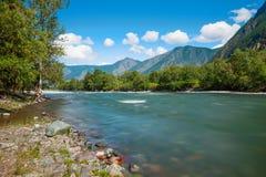 De Bergen van Altai Mooi hooglandlandschap Rusland siberië Royalty-vrije Stock Fotografie